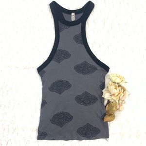 Intimately FP Gray Printed Wide Eyed Tank NWOT